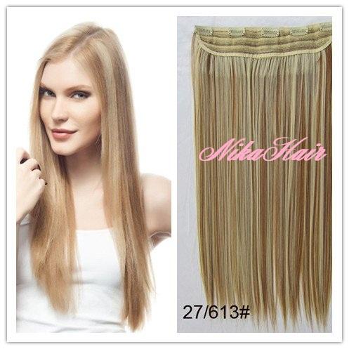 Clip in vlasy - 60 cm dlhý pás vlasov - odtieň 27 613 - mix empty 34b72dd398f